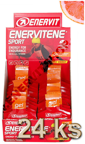 Enervit Enervitene Sport gel - pomeranč 25 ml, displej 24 ks