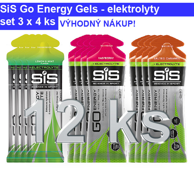 SiS GO Energy Gel Electrolyte - set 12 ks