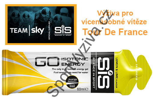 SiS GO Isotonic Energy Gel - citron s limetkou, 60 ml