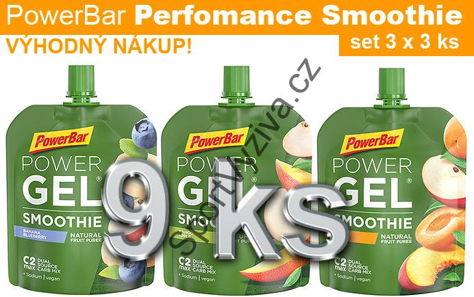 PowerBar Perfomance Smoothie - set 9 ks
