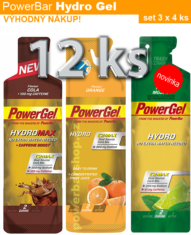 PowerBar HydroGel - set 12 ks