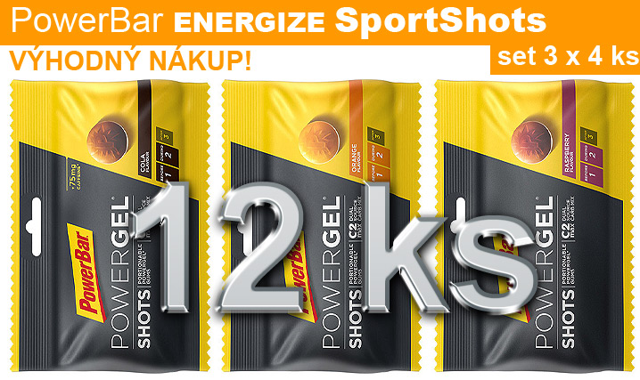 PowerBar Energize SportShots - set 16 ks