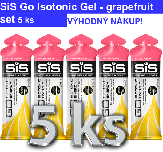 SiS GO Isotonic Energy Gel - růžový grep, 5x60 ml
