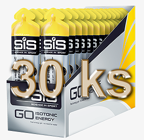 SiS GO Isotonic Energy Gel - ananas, displej 30 ks