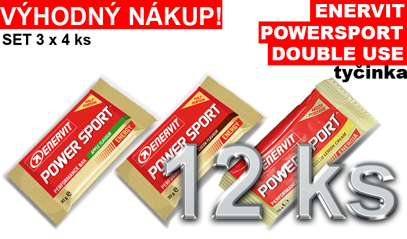 Enervit Power Sport Double Use - set 3 x 4 ks