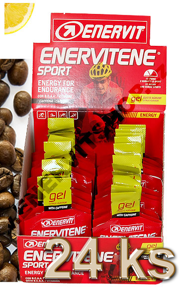 Enervit Enervitene Sport gel s kofeinem - citrus 25 ml, displej 24 ks