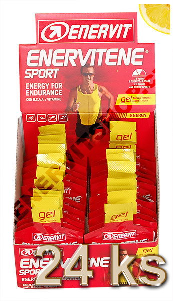 Enervit Enervitene Sport gel - citron 25 ml, displej 24 ks