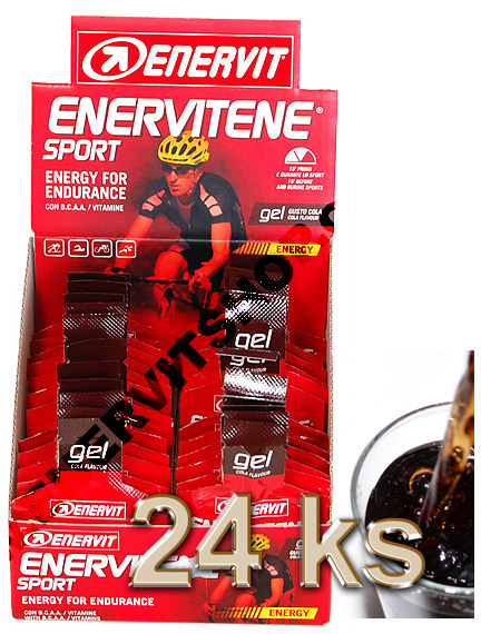 Enervit Enervitene Sport gel - cola 25 ml, displej 24 ks