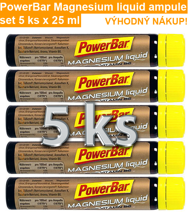 PowerBar Magnesium liquid ampule - set 5 ks