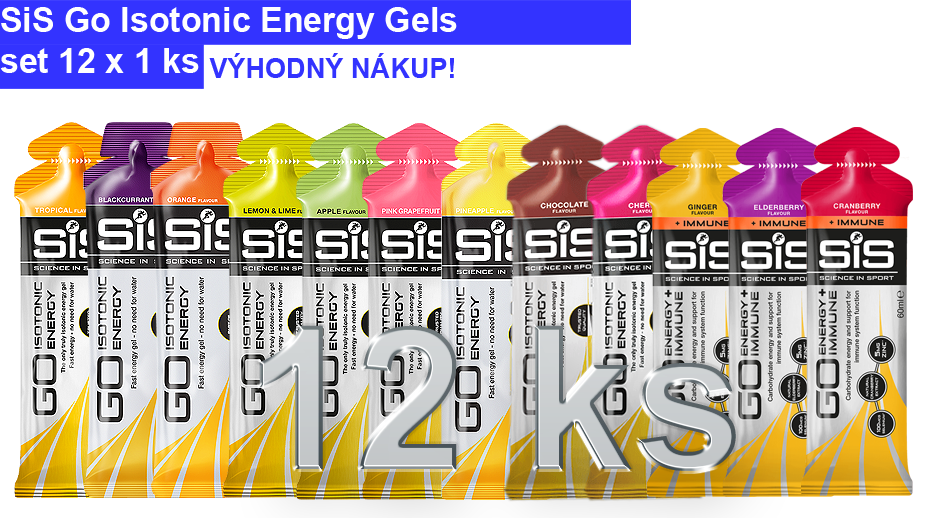 SiS GO Isotonic Energy Gel - set 12 ks