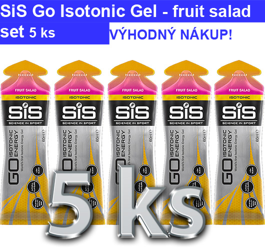 SiS GO Isotonic Energy Gel - směs ovoce, 5 x 60 ml